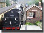 Steam train Goathland station