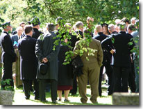 Phil Bellamy's funeral