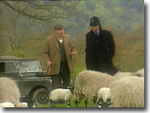 PC Rowan, a farmer and a couple of sheep