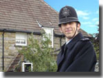 PC Younger (Steven Blakeley) filming at Glendale House (2005)