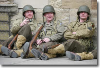 US Soldiers, Wartime weekend, Pickering, North Yorkshire Moors Railway