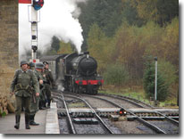 Wartime weekend, Levisham, North Yorkshire Moors Railway