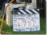 Clapper board, filming 6 June 06