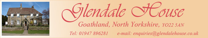What's on in Whitby and the Moors, Glendale House Goathland, Where to stay in Goathland, Bed and breakfast Goathland