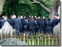 Phil Bellamy's funeral