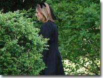 Gina at Funeral