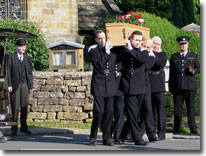 Phil Bellamy's funeral in Heartbeat