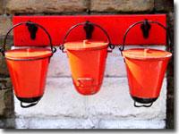 Goathland station fire buckets