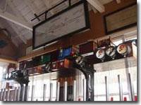 Inside signal box