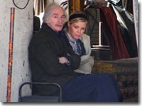 Rosie & Bernie waiting for scene 23.5.06