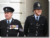 Sgt Miller and PC Bellamy at VE day parade, 26 June 06