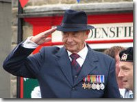 Oscar Blaketon, VE day parade, 26 June 06