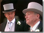 Oscar Blaketon and Alf Ventress at Nick and Jo's wedding (1997)