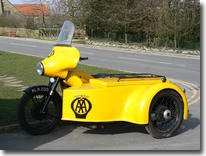 BSA M21 AA Motorbike combination