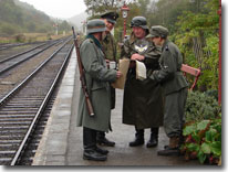 Wartime weekend, Levisham, North Yorkshire Moors Railway