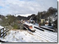 Goathland station in the snow